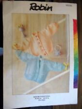 Robin Knitting Pattern Baby Cardigans  Leaflet no.15221C sizes 13-22 ins.