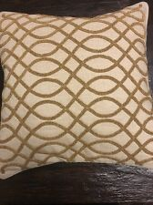 """POTTERY BARN Linen & Cotton EMBROIDERED Throw PILLOW Cover 18 X 18"""""""