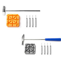 Watch Band Bracelet Link Repair Remover Tool Hammer Punch  Pins Strap Holder Set