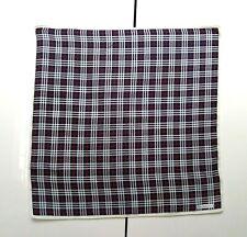 Burberrys Pocket Square Handkerchief Scarf Neckerchief Bandana Nova Check Blue