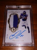 DALVIN COOK 2017 Panini Flawless Rookie Patch On Card Autograph /25 Vikings