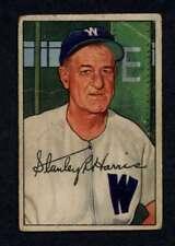 1952 Bowman #158 Bucky Harris GVG Senators MG A3643
