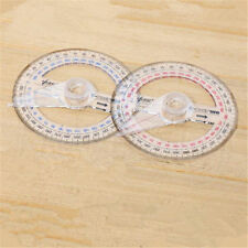 1pc Plastic 360 Degree Protractor Ruler Angle Finder Swing Arm School Office New