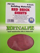 Metcalfe Kit PN100. Building Materials. Red Brick Sheets. N Scale.