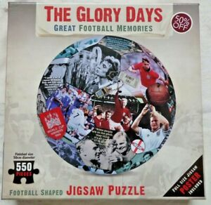 The Glory Days Football Jigsaw Puzzle 550 Piece With Poster Memorabilia Soccer