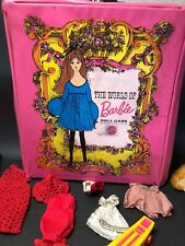 Vintage 1968 Barbie Doll Case By Mattel W/ Clothes