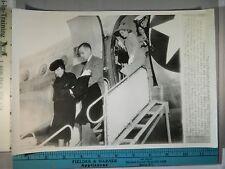 Rare Historical Orig VTG Mrs John S McCain & Son Gordon Arrive For Funeral Photo