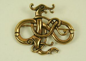 Brosche Bronze Drache Wikinger Fibel Urnes Stil Bronzeschmuck Wikingerschmuck
