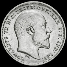More details for 1902 edward vii silver threepence, a/unc
