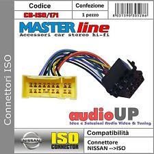 CONNETTORE ISO RADIO ORIGINALE PER NISSAN XTRAIL TUTTI MODELLI DAL 2001 AL 2004.