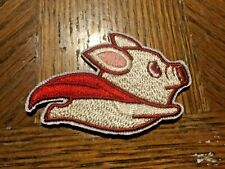 "Super Pig with a Cape Embroidered Patch 2.5"" x 1.5"" sew or Iron On Flying"