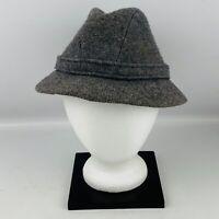 Vintage Mens M Kangol Design Hat Gray Wool Made in England Fedora Flaws