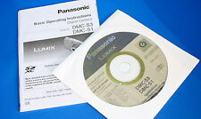 ORIGINAL GENUINE PANASONIC LUMIX DMC-S3 & S1 DIGITAL CAMERA INSTRUCTIONS AND CD