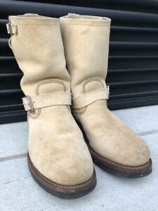 RED WING 8268 engineer boots suede rough out beige US 10D