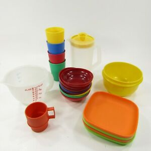 Tupperware TupperToys Childrens size Lot of play kitchen Dishes Bowls Plates