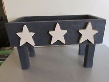 Primitive Decor Americana Star Stool Bench 18x11x9 Wood