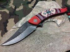 Master Aztec Assisted Open Folding Knife Red Feather Stainless Pocket  A023RD