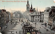 Scotland postcard Aberdeen Union St. from East End busy aerial street scene