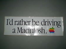 "Apple 1984 ""I'd Rather Be Driving a Macintosh"" Bumper Sticker"