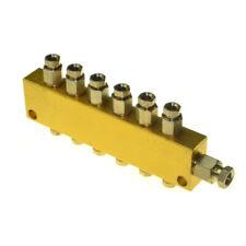 1 ×Carving Machine Adjustable Oil Distributor Lubricating 1 Inlet 6 Outlet Valve