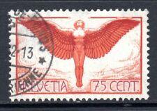 (035)     Switzerland 1923-40 Air 75c Red Orange & Claret SG326 VF Used Cat £95