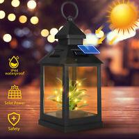 Solar Lantern Hanging LED Light Yard outdoor Patio Garden Lamp Waterproof Decor