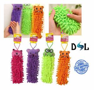 Microfiber Microfibre Cloth Chenille Cleaner Duster Soft Mitt Plush Animal Head