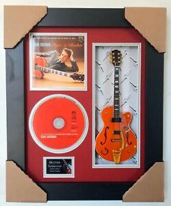 Eddie Cochran Framed Guitar, CD & Sleeve Presentation
