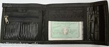 CHEAP GOOD QUALITY FAUX LEATHER BIFOLD CARD COIN PURSE WALLET BLACK