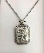 Saint (St) Michael Patron of Paratroopers -Protect Us -Necklace/Pendant -Vintage