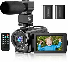 Video Camera Camcorder YouTube Vlogging Camera FHD 1080P 30FPS 24MP 16X Digital