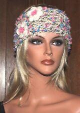 f288892933ae52 Handgestrickt Haarband Stirnband Ohrwärmer Headband wollweiß Unikat  Handarbeit