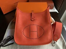 Orig.Hermes Paris Evelyne Bag III 29 Tasche Taurillon Clemence Orange Poppy NEU