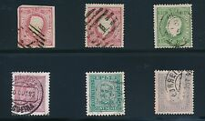 Portugal (6) EARLY ISSUES 1866-1893; USED; NO FAULTS; CV $50