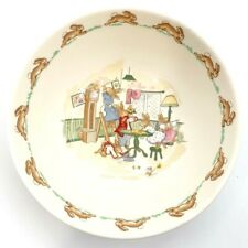 Royal Doulton Bunnykins Baby Kid Childs Cereal Bowl House Cleaning Day England