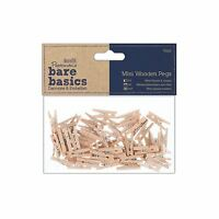 Docrafts Papermania Mini Pegs Pack of 50 Crafts Papercrafting Card Making