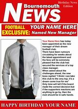 A5 Personalised Bournemouth Football Manager Card PIDH1 Greeting Birthday