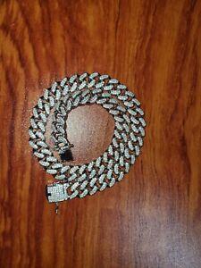 "13mm 18k White Gold Cuban Chain, Brand New 18"""
