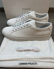 Common projects Achilles Premium Textured Leather Sneakers White 46 EU New Boxed