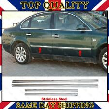 Chrome Side Door Streamer 4 dr S.STEEL to Fit VW Passat B5 Saloon 1996-2005