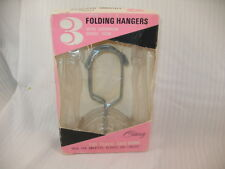 Vintage set of 3 Folding Clothes Hangers in Original Box 1959 By Celebrity ~26H6