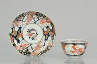 Antique 18th Century Japanese Porcelain Tea Cup & Saucer  Imari Edo Peri...
