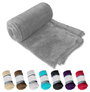 Plaid coperta tinta unita morbido soffice pile letto divano matrimoniale singolo
