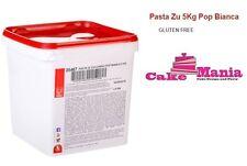 PASTA DI ZUCCHERO MODECOR POP BIANCA 5KG PER COPERTURA GLUTEEN FREE OFFERTA CAKE