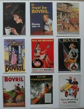 Advertising - 9 modern postcards with Bovril advertisements