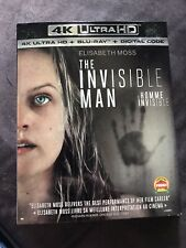 The Invisible Man 4K + Blu Ray + Digital With Slip New And Sealed