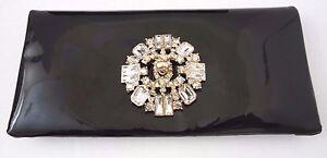 """Authentic CHANEL Black Clutch Handbag Purse Twist Lock Closure 9.25"""" X 4.5"""" NWT"""