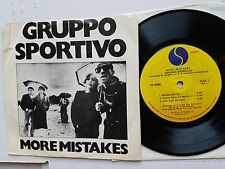 """GRUPPO SPORTIVO - More Mistakes 1979 POST PUNK NEW WAVE 7"""" EP"""