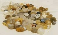 D15 Lot of Fairy Garden Gems Agates 100+ Small Translucent Stones Natural Rough