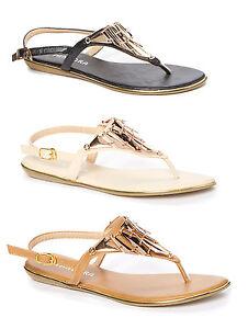 Women's Metallic Y-Strap Gladiator Sandal Tribal Fashion Sandals Shoes